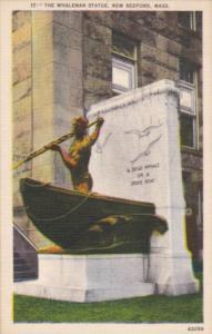 Massachusetts New Bedford The Whaleman Statue 1953