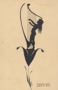 DIEFENBACH : Fantasy Silhouette , 00-10s ; Jugend II. BL. 37 ; Tan paper