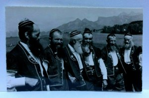 RPPC Switzerland Armaillis de la Gruyere Hersmen Choir Real Photo Postcard