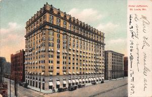 Hotel Jefferson, St. Louis, Missouri, Early Postcard, Unused