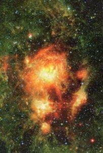 NGC 3603 Star Cluster Carina Milky Way Astronomy Postcard