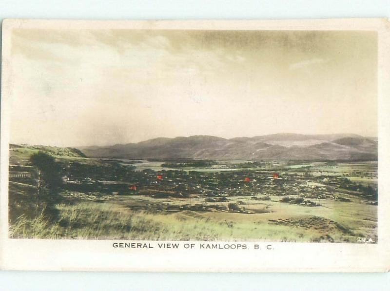 1940's rppc NICE VIEW Kamloops British Columbia BC W0923