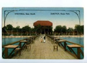 171827 Serbia Subotica banja Palic Vintage Real post postcard