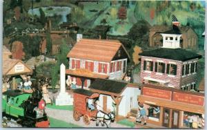 1987 Advertising Postcard HERITAGE HOUSE Family Restaurant Miniature Village