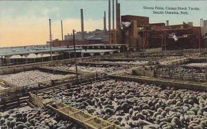 Sheep Pens, Union Stock Yards, South Omaha, Nebraska 1900-1910s
