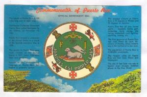 Commonwealth of Puerto Rico, Official Government Seal, 40-60s