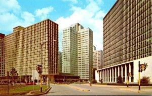 Pennsylvania Pittsburgh Gateway Center Showing Hilton Hotel Gateway #1 and St...