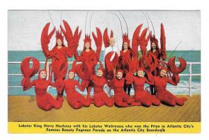 Lobster King Waitresses Hackneys Seafood Restaurant Atlantic City NJ Postcard