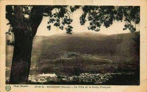 Morocco Ouezzan La Ville et le Camp Francais Panorama Postcard