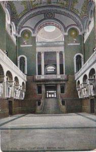 Massachusetts Boston Court House Central Hall 1911