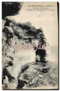 Old Postcard Cave Caves Meschers les Bains Canton Cozes Cliff of the virgin cave