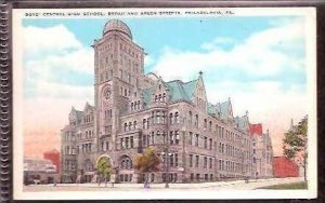 Pa Philadelphia Boys Central High School 1930