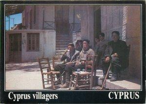 Postcard Cyprus villagers ethnic types