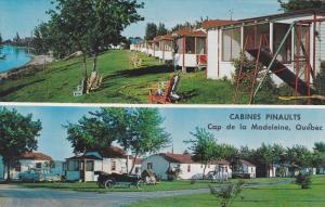 2-Views, Cabines Pinaults, Cap De La Madeleine, Quebec, Canada, PU-1969