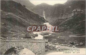 Postcard Old Surroundings of Luchon Deversoir Lake Bone Bridge Hotellerie