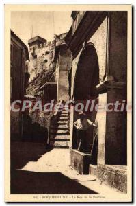 Old Postcard Roquebrune La Rue De La Fontaine