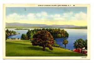 NY - Lake George. View of Diamond Island