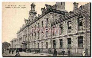 Old Postcard Nantes Lycee Basically the Jardin des Plantes