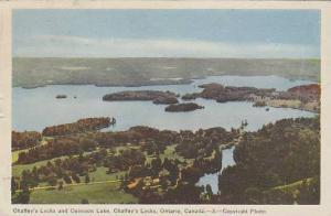 Chaffeys Locks And Opinion Lake, Chaffeys Locks, Ontario, Canada, PU-1947