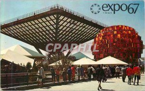 Postcard Modern Montreal Canada The Canada Pavilion Situated in the Notre Dam...