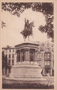 Statue Equestre De Gharlemagne, LIEGE (Liege), Belgium, 1910-1920s