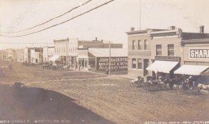 RP: STETTLER , Alberta , Canada , 1900-10s ; Street view