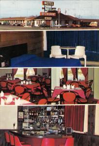 Motel-Restaurant La Vigie, Inside View, Bar, Classic Cars, MATANE, Quebec, Ca...