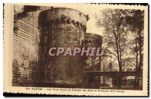 Old Postcard The Three Towers Nantes Chateau des Ducs de Bretagne (XV century)