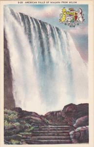 New York American Falls Of Niagara From Below