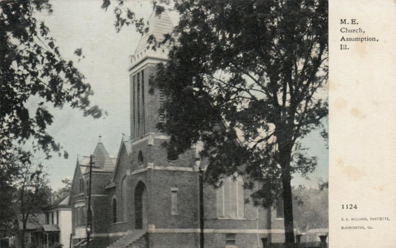 ASSUMPTION, Illinois, PU-1912; M.E. Church