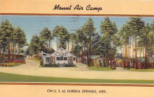 Arkansas Ar Postcard 1947 EUREKA SPRINGS US 62 Roadside MOUNT AIR CAMP
