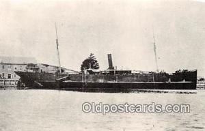 USS Justin Schooner Middlesbrough, England Ship Postcard Post Card Middlesbro...