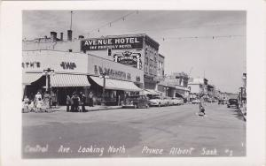 RP: Central Avenue , Woolworth Store , Looking North , PRINCE ALBERT , Saskatche