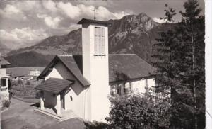 Switzerland Leysin Village La Chapelle Catholique 1968 Photo