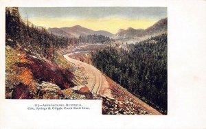 LP23  Colorado Postcard Cripple Creek Short Line Approaching Duffield
