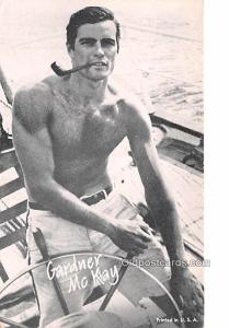 Gardner McKay Movie Star Actor Actress Film Star Postcard, Old Vintage Antiqu...