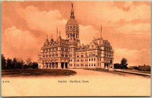 Hartford, Connecticut Postcard State Capitol Building View c1900s Unused