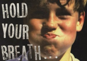 Hold Your Breath Death Stop Smoking Advertising Campaign Postcard
