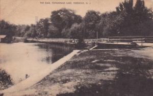 The Dam, Topanemus Lake, FREEHOLD, New Jersey, PU-1941
