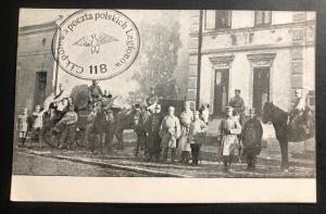 Mint WWI Polish Legion Poland Real Picture Postcard RPPC Preparing Troops