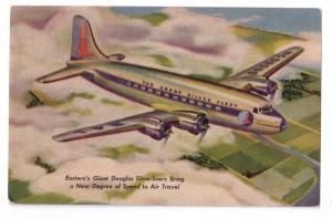 Eastern Airlines Great Douglas Silverliner Skymasters Vntg Aviation Postcard