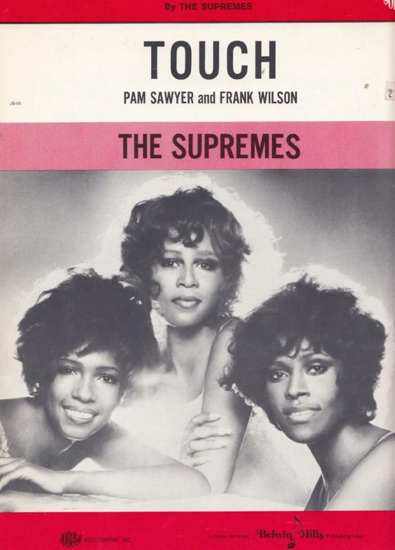 The Supremes Touch of Tamla Motown 45 Rare XL Sheet Music
