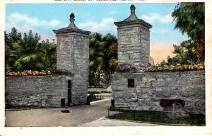 US    PC1634  OLD CITY GATES, ST AUGUSTINE, FL