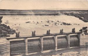 BURLEY IDAHO MILNER DAM POSTCARD 1910 PSTMK