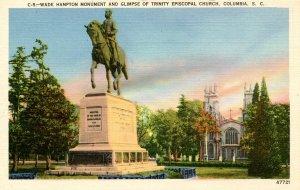 SC - Columbia. Confederate Wade Hampton Monument
