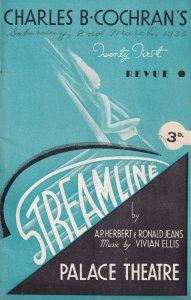 Streamline Tilly Losch Norah Howard Florence Desmond Theatre Programme