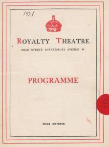A Social Convenience Hilda Moore Drama HM Harwood Royalty Theatre London Prog...