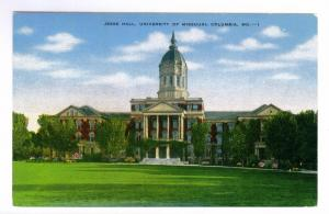 Jesse Hall, University of Missouri, Columbia, MO unused Kropp linen PPC