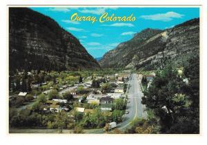 Ouray Colorado Aerial View Rocky Mountains Petley Postcard