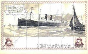 Red Star Line Steam Ship Postcard Postcards Unused